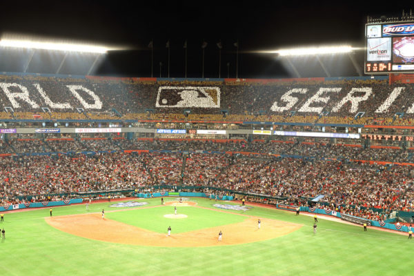 2003 World Series Card Stunt