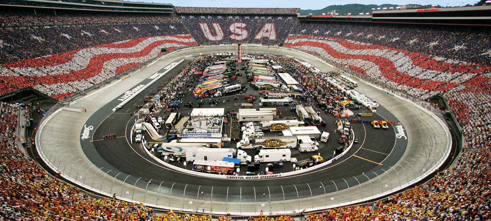 Bristol Motor Speedway Card Stunt Stadium Card Stunts By
