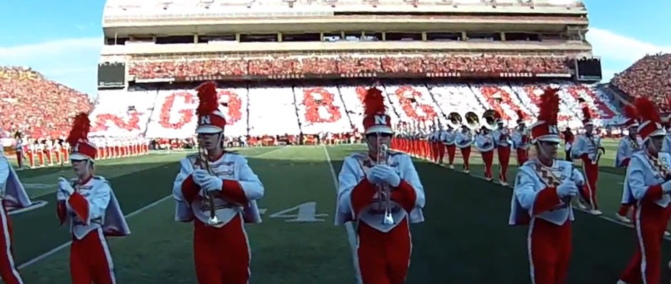 University of Nebraska Card Stunt