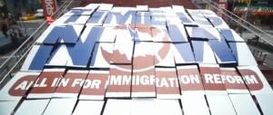 32BJ Immigration Reform Card Stunt