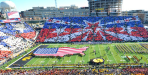 University of Iowa Veterans Day Salute Card Stunt